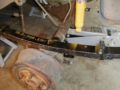 New Leaf Springs In Place.